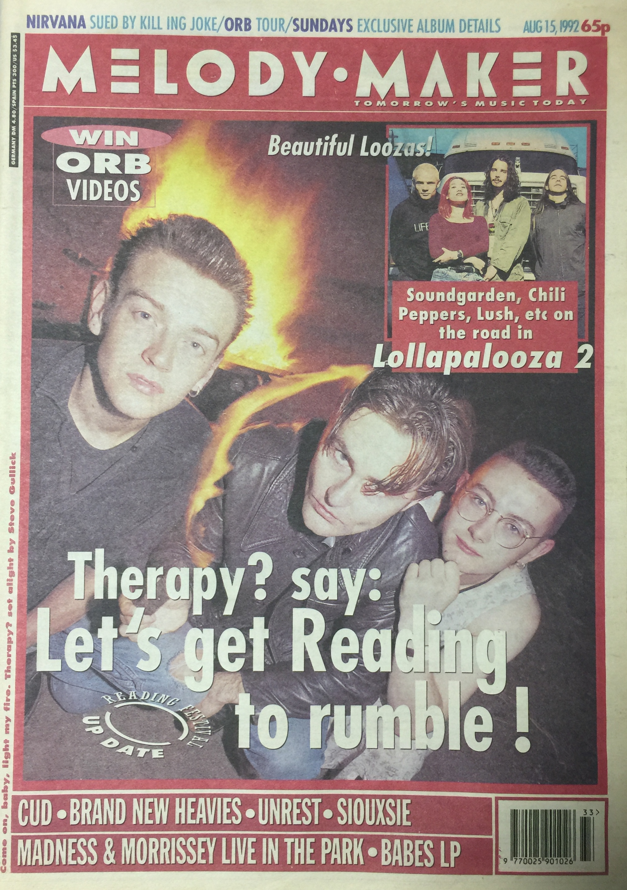 Melody Maker Aug 15, 1992