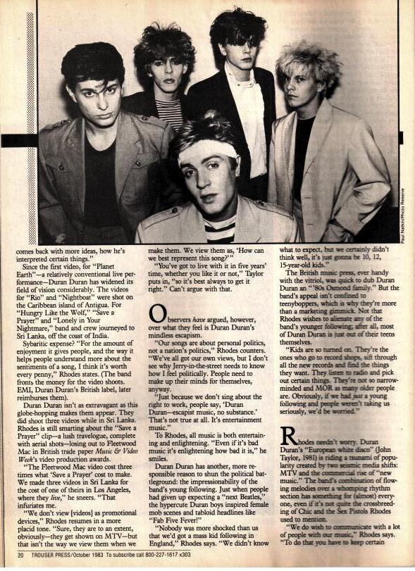 Trouser Press Oct 1983